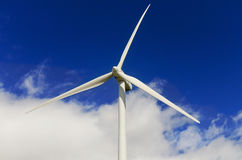 Wind energy turbines. Eolic generator Stock Photos