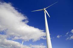 Wind energy turbines. Eolic generator Stock Images