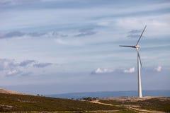 Wind energy turbines Stock Photos