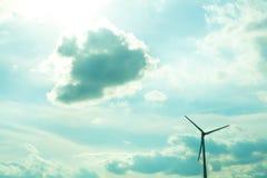 Wind energy under a dramatic sky Stock Photo