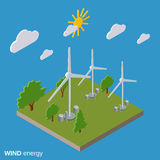 Wind energy vector illustration Stock Images