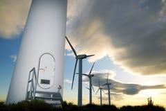 Wind energy view Stock Photo