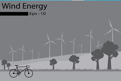 Wind energy, Wind Generators royalty free illustration