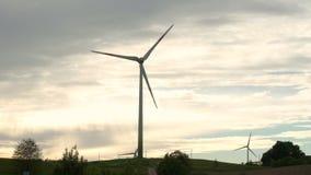 Wind energy, wind power, wind turbine. 4k stock video