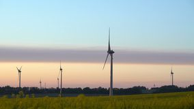 Wind energy ,wind power , wind turbine stock video footage