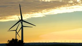 Wind energy ,wind power , wind turbine stock footage