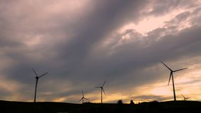 Wind energy, wind power, wind turbine stock video footage