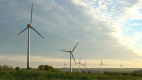 Wind energy, wind power, wind turbine stock footage