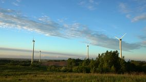 Wind energy, wind power, wind turbine. 4k stock video footage