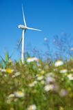 Wind energy. Windmill for electric power production, Zaragoza province, Aragon, Spain Stock Photos