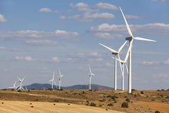 Wind energy and windmills in the countryside. Spain Stock Images