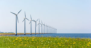 Wind energy windmills royalty free stock photography