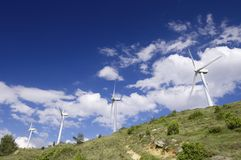 Wind energy Royalty Free Stock Photography