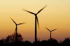 Wind energy. Windmills for renewable electric energy production, La Muela, Zaragoza, Aragon, Spain Stock Photo