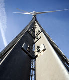 Wind Engine. A Wind Engine For Clean Energy With Blue Sky Stock Images