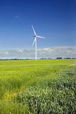 The wind engine in field Royalty Free Stock Photos