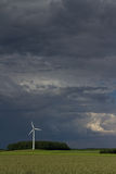 Wind engine and raising storm. The picture shows a cloudy sky royalty free stock image