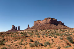 Wind eroded mesa and needles in Monument Valley Royalty Free Stock Photos