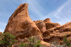 Wind eroded red rock cliffs Royalty Free Stock Images