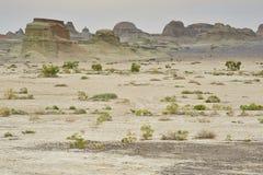 Wind erosion landform Royalty Free Stock Image