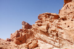 Wind Erosion in Red Rock Stock Images