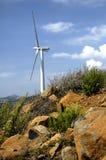 wind för 17 turbin Fotografering för Bildbyråer