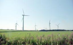 wind för 2 lantgård fotografering för bildbyråer