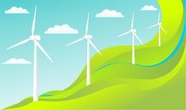 wind för begreppsenergivektor Stock Illustrationer