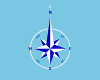 wind för bluerosewhite vektor illustrationer