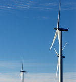 wind för drivande generator Arkivfoton
