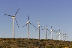 wind för ekologienergivänskapsmatch Arkivbilder