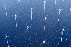 wind för parkturbinvatten stock illustrationer