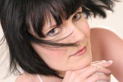 wind för svarta hår Royaltyfri Fotografi
