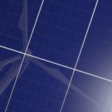 wind för turbin för energipanel förnybar sol- Arkivfoto
