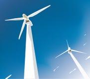 wind för turbiner två royaltyfri illustrationer