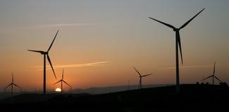 Wind farm. Windmills of a wind farm in españa Stock Image