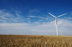 Wind Farm. A wind farm in a field of corn Stock Photos
