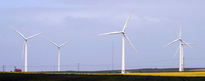 Wind Farm. East Yorkshire UK stock images