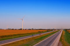 Wind Farm. On the side of the higway in Indiana Stock Photos