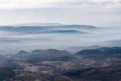 The wind farm. A wind farm near Tarazona, Aragon (Spain Royalty Free Stock Photography