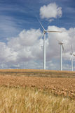 Wind Farm. Against cloudy sky Royalty Free Stock Image
