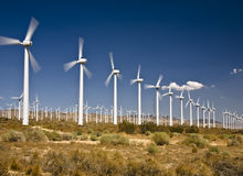 Wind Farm. Near Tehachapi, California Royalty Free Stock Photo