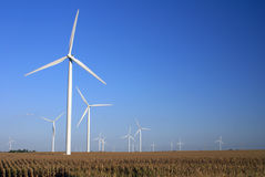Wind Farm. In Central Illinois Stock Images