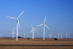 Wind Farm. In Central Illinois Royalty Free Stock Photos