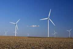 Wind Farm. In Central Illinois Stock Photo