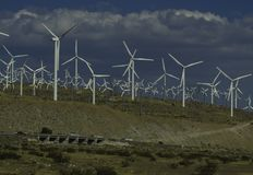 Wind Farm. Southern California Wind Farm located  at White Water Canyon between Los Angeles and Palm Springs Royalty Free Stock Image