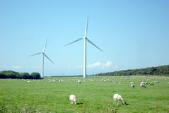 Wind Farm. On the West Coast of England in the Lake District, Cumbria England Royalty Free Stock Photos