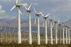 Wind Farm. Rows of Wind Power Generators in Coachella Valley, California royalty free stock image