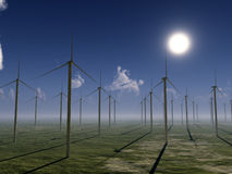 Wind Farm. For environmental and energy concepts Royalty Free Stock Photo