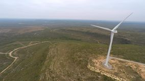 Wind farm aerial 4k video stock footage